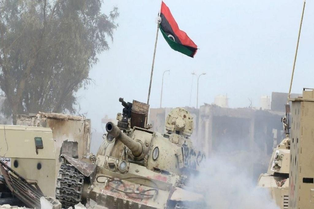 نیروهای حفتر جنگنده دولت وفاق ملی لیبی را سرنگون کردند