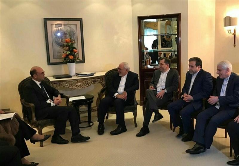 دیدار ظریف با وزیر خارجه ایتالیا و وزرای دفاع سنگاپور و لبنان