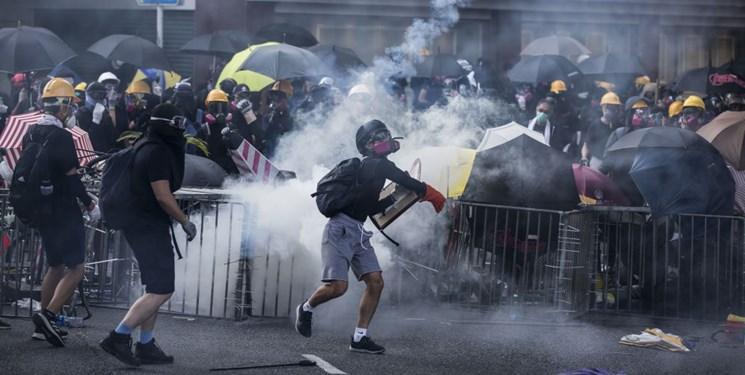 فیلم، درگیری های شدید در هنگ کنگ همزمان با روز ملی چین