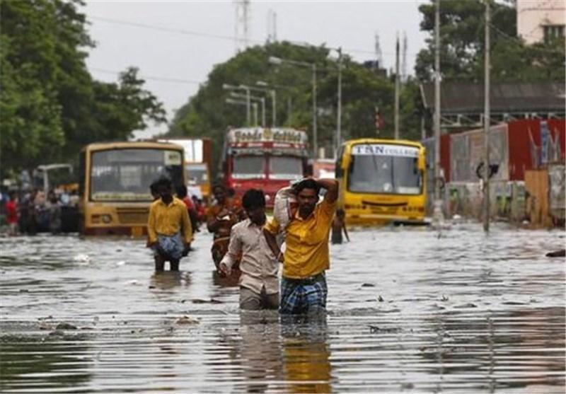 باران های موسمی هند 60 کشته و 3000 آواره بر جای گذاشت