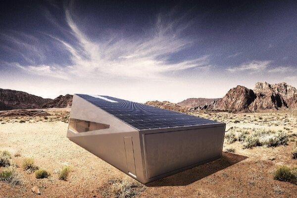 گاراژ خورشیدی مخصوص سایبرتراک طراحی شد
