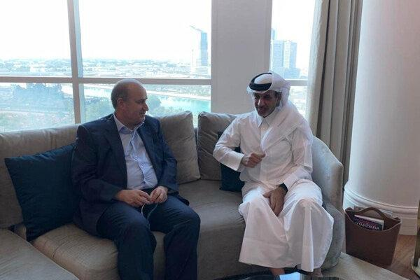 ملاقات روسای فدراسیون های فوتبال ایران و قطر