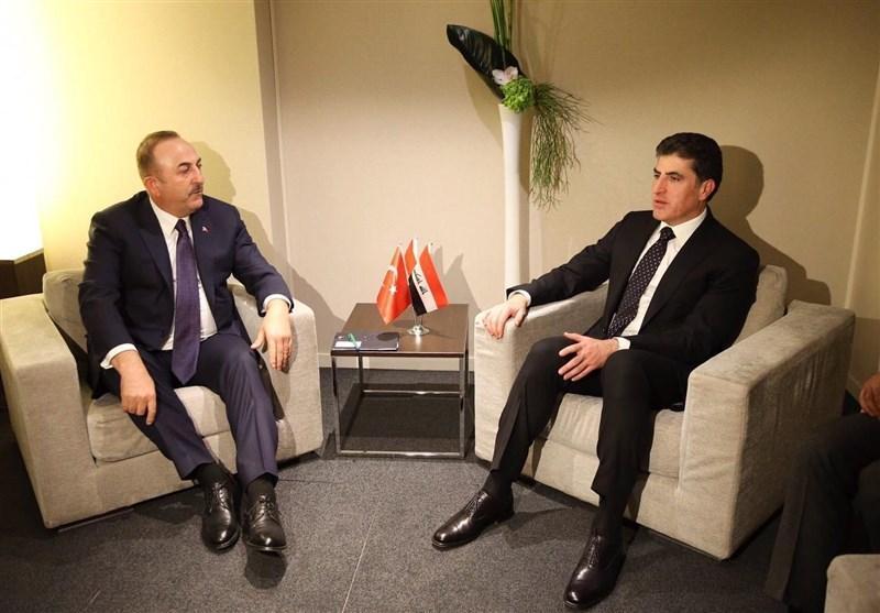 ملاقات چاووش اوغلو با رئیس جمهور آذربایجان و رئیس اقلیم کردستان در داووس