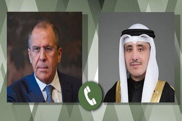گفتگوی تلفنی وزرای خارجه روسیه و کویت