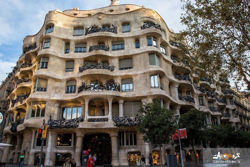 کازا میلا؛ساختمانی سحرانگیز در قلب بارسلونا، عکس