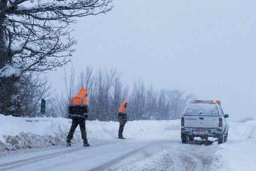 برف و باران در جاده های 18 استان کشور